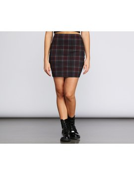 Plaid And Simple Mini Skirt by Windsor