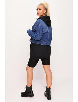 Blue Cropped Utility Denim Jacket by I Saw It First