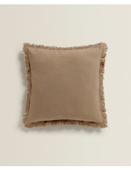Cotton Throw Pillow With Fringe Throw Pillows   Living Room by Zara Home