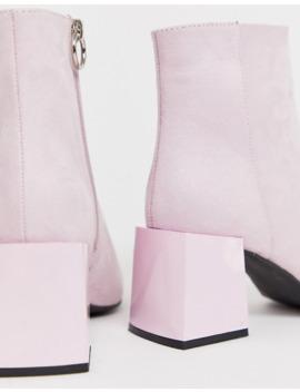 Asos Design   Reed   Stivali A Calza A Pianta Larga Lilla Con Tacco by Asos Design
