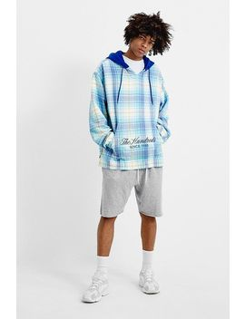 The Hundreds Alta Blue Checked Pullover Hoodie by The Hundreds