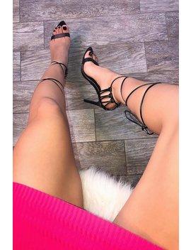 Intuition Heeled Sandals   Black by Fashion Nova