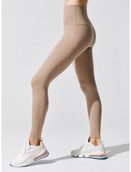 Heather Rib High Waisted Midi Legging by Beyond Yoga