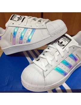 Holographic Adidas Superstars Preowned/Used by Adidas