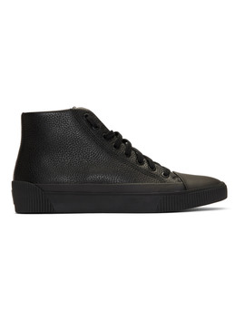 Black Zero Hito High Top Sneakers by Hugo