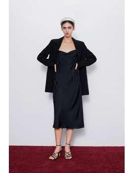 Vestido Tipo Lingerie AlÇas by Zara