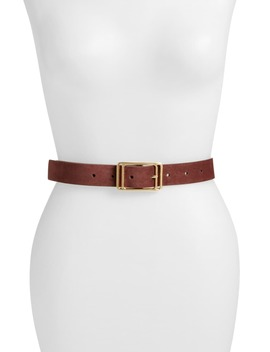 Square Buckle Leather Belt by Halogen®