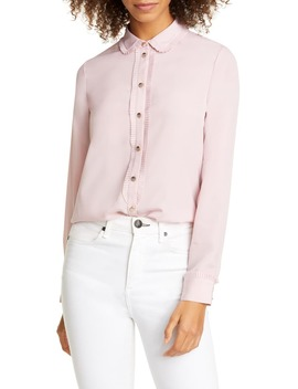 Saiige Pleated Trim Blouse by Ted Baker London