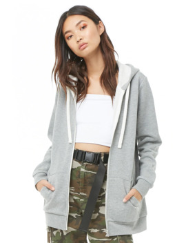 Hooded Fleece Jacket by Forever 21