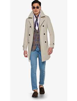 Stone Trench Coat by Suitsupply