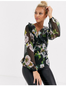 Lipsy Printed Blouse In Multi by Lipsy