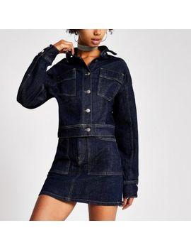 Dua Lipa X Pepe Jeans Dark Blue Denim Jacket by River Island