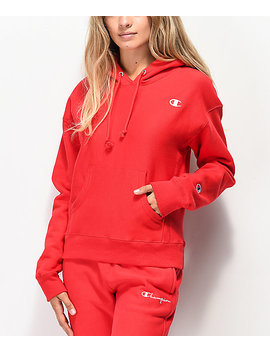 Champion Reverse Weave Scarlet Red Hoodie by Champion