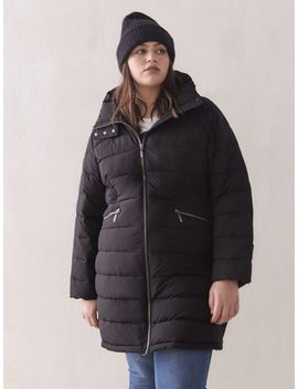 Faux Down Puffer Jacket   Addition Elle Faux Down Puffer Jacket   Addition Elle by Addition Elle