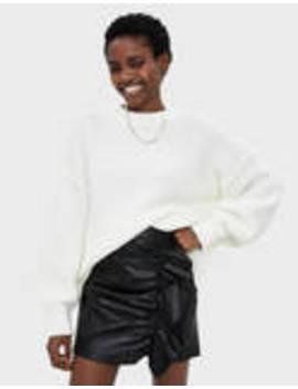 Ruffled Faux Leather Skirt by Bershka
