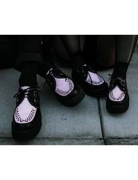 Black & Pink Tu Kskin™ Viva Mondo Creeper by Tuk