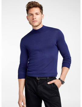 Silky Mock Neck Sweater by Le 31