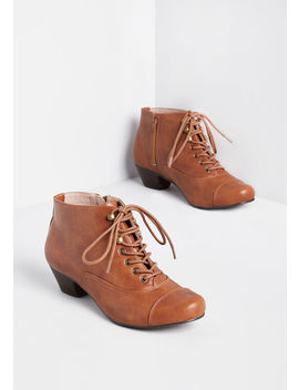 Spy Sophisticate Lace Up Bootie by Modcloth