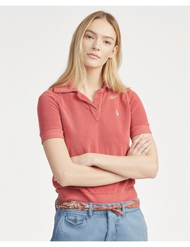 French Terry Polo Shirt by Ralph Lauren
