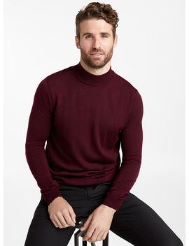 Merino Wool Mock Neck Sweater by Le 31