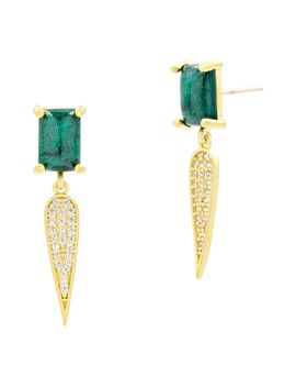 Harmony Pavé Dagger Drop Earrings by Freida Rothman