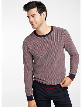 Tricolour Knit Sweater by Le 31