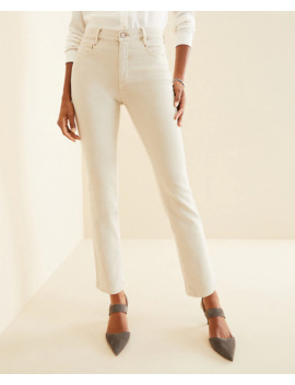 Petite Sculpting Pockets High Rise Straight Leg Jeans In Sky Grey by Ann Taylor