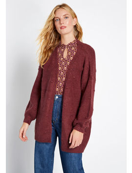 Textured Tendency Long Cardigan by Modcloth