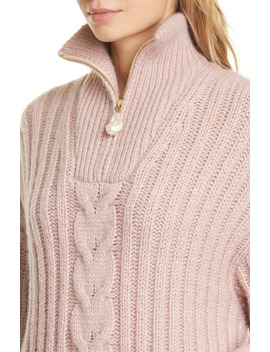 Eria Cable Knit Sweater by Nanushka