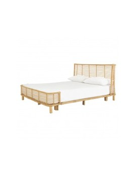 Natural Handwoven Rattan Double Bed Frame 135cm Natural Handwoven Rattan Double Bed Frame 135cm by Nadia                         Nadia