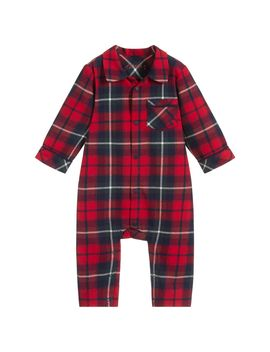 Red Check Flannel Babygrow by Joules