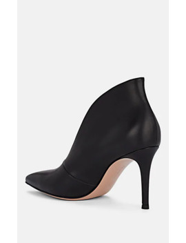 Slit Vamp Leather Pumps by Gianvito Rossi