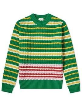 Acne Studios Kai Waffle Stripe Wool Knit by Acne Studios