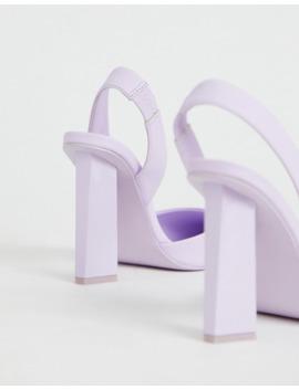 Asos Design   Met Hielbandje, Slotje En Spitse Hoge Hakken by Asos Design