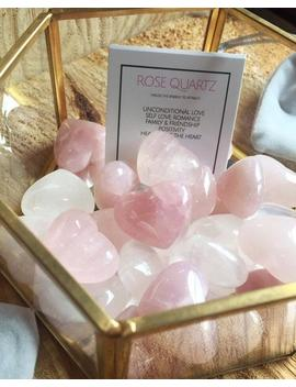 Rose Quartz Heart, Mother Love, Self Love, Love, Kindness, Healing by Etsy