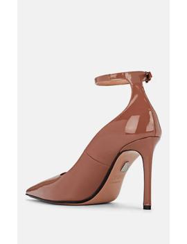 Patca Patent Leather Ankle Strap Pumps by Samuele Failli