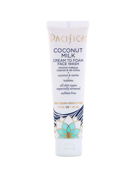 Pacifica, Coconut Milk, Cream To Foam Face Wash, 1.4 Fl Oz (40 Ml) by Pacifica