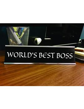 World's Best Boss Name Sign, Funny Desk Name Plate, Office Name Plate,Custom Office Name Plate,Personalized Name Plate With Holder,Style Nm1 by Etsy