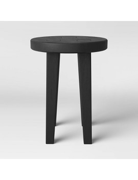 Woodland Carved Wood Accent Table   Black   Threshold™ by Threshold