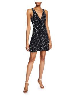 Star Print Sleeveless Short Dress by Jonathan Simkhai