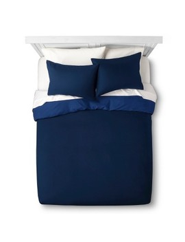Solid Reversible Microfiber Duvet Cover Set   Room Essentials™ by Shop Collections