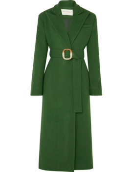 Belted Wool Blend Felt Coat by MatÉriel