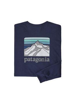 Patagonia Men's Long Sleeved Line Logo Ridge Responsibili Tee® by Patagonia