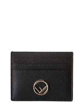 Fendi Logo Leather Card Case by Fendi