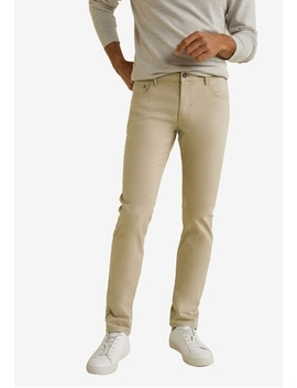 Slim Fit 5 Pocket Cotton Trousers by Mango Man