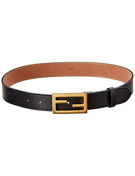 Fendi Ff Stud Buckle Leather Belt by Fendi