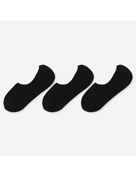 Women Invisible No Show Socks (Three Pairs) by Uniqlo