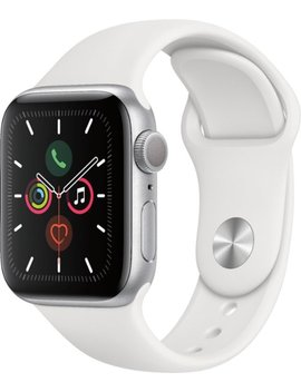Apple Watch Series 5 (Gps) 40mm Silver Aluminum Case With White Sport Band   Silver Aluminum by Apple