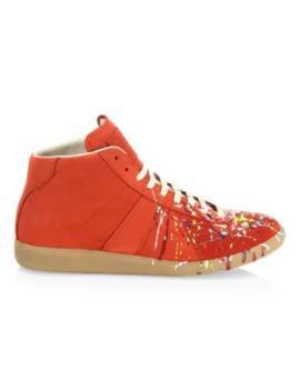 Paint Splatter Replica Sneakers by Maison Margiela