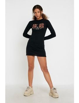 Uo Dragon Long Sleeve Mini Dress by Urban Outfitters